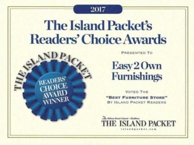 Easy 2 Own Furnishings 2017 Readers Choice Award