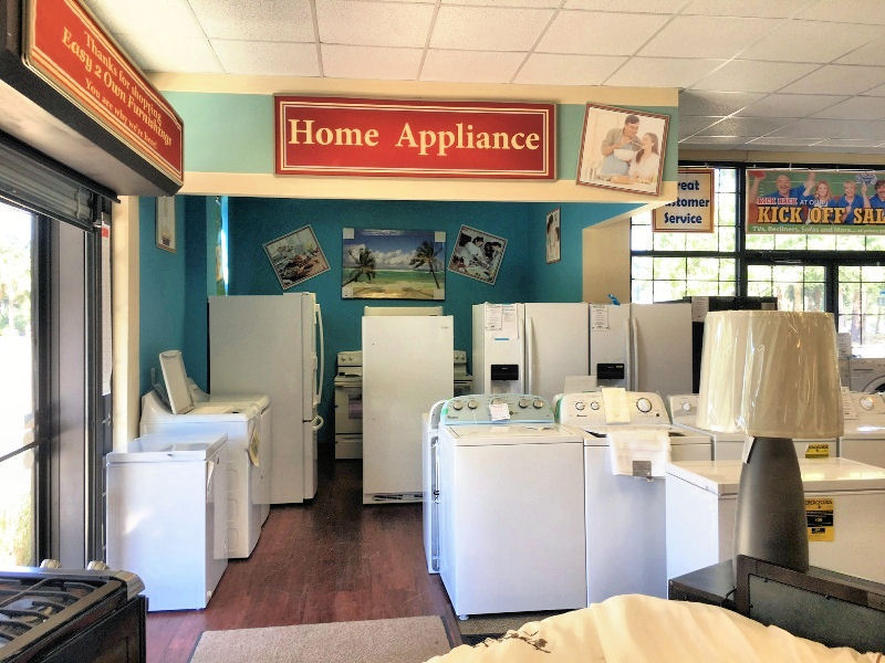 Easy 2 Own Furnishings has the Best Brand name appliances.