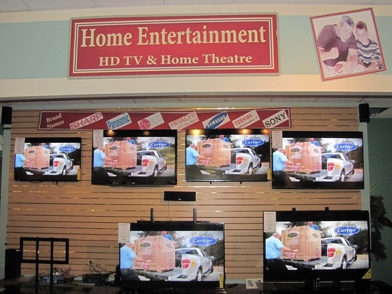 Bluffton store for TVs, computers, laptiops, cell phones, tablet is Easy 2 Own Furnishings