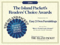 Easy to Own, Best Furniture Store, Island Packet Readers Choice Award